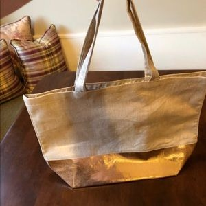 Christen Maxwell Gold Two Toned Tote